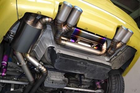 E46M3ワンオフフルチタニュウムマフラー